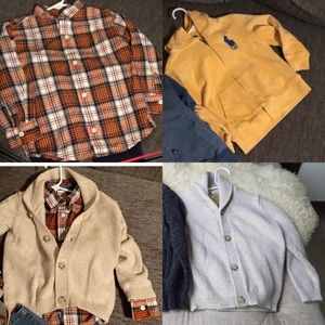 Other - Plaid long sleeve button down and 2 sweaters